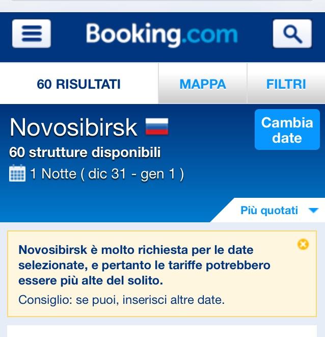 Non c'è posto a Novosibirsk