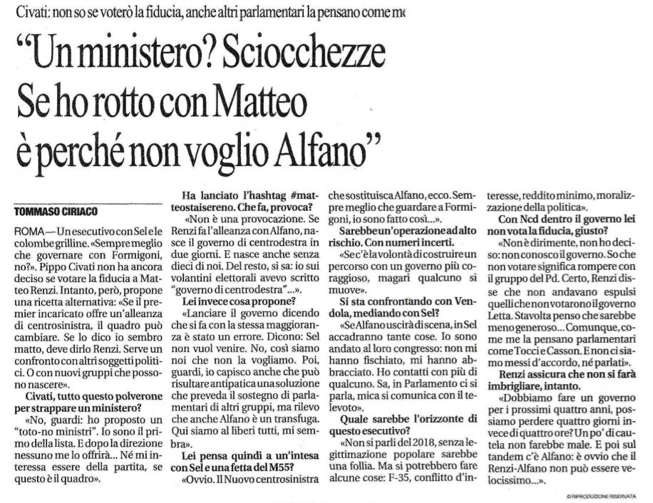 La Repubblica 17.02 2